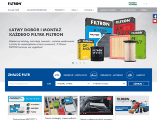 en.filtron.eu screenshot