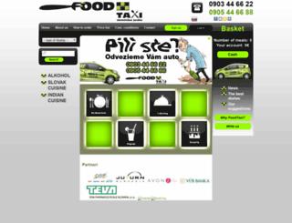 en.foodtaxi.sk screenshot