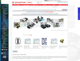 en.globtek.com screenshot