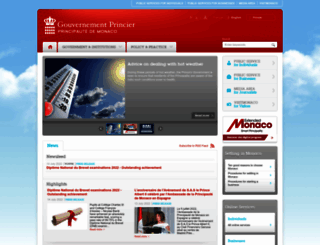 en.gouv.mc screenshot