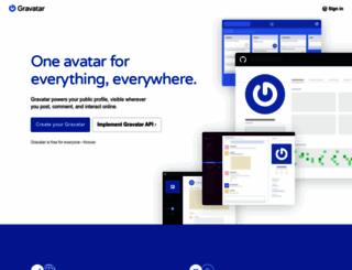 en.gravatar.com screenshot