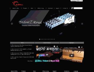 en.gskill.com screenshot