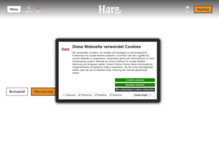 en.harzinfo.de screenshot
