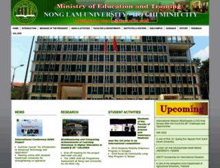 en.hcmuaf.edu.vn screenshot