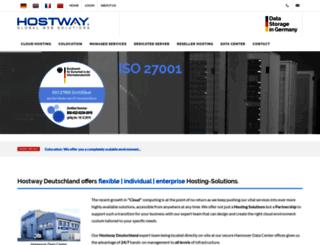 en.hostway.de screenshot