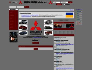 en.mitsubishiclub.cz screenshot