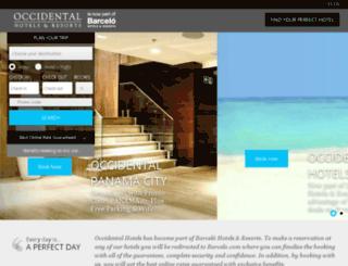 en.occidentalhotels.com screenshot