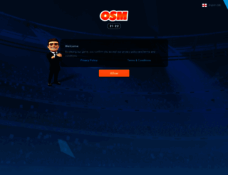 en.onlinesoccermanager.com screenshot