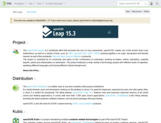 en.opensuse.org screenshot