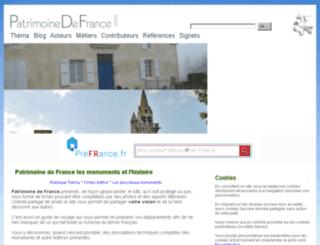 en.patrimoine-de-france.com screenshot