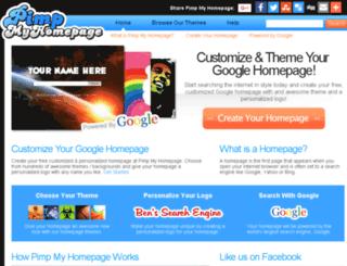 en.pimpmyhomepage.com screenshot
