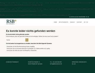 en.rsb-kanzlei.de screenshot