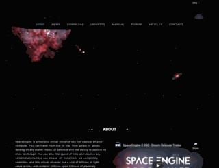 en.spaceengine.org screenshot