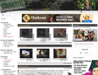 en.tibiaml.com screenshot