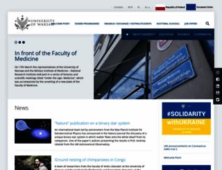 en.uw.edu.pl screenshot