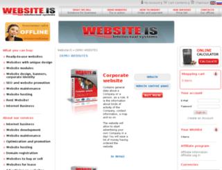 en.website.is screenshot