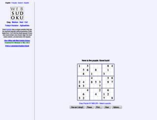en.websudoku.com screenshot