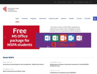 en.wspa.pl screenshot