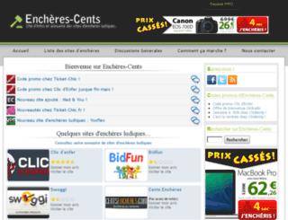 encheres-cents.com screenshot