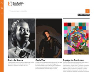 enciclopedia.itaucultural.org.br screenshot