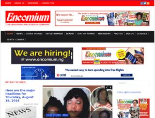 encomiummagazine.com screenshot