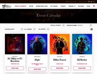 encorebeachclub.com screenshot