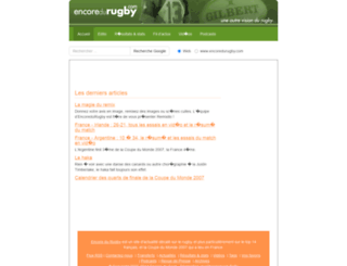 encoredurugby.com screenshot