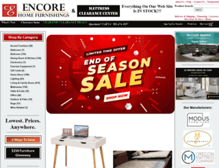 encorehomefurnishings.com screenshot