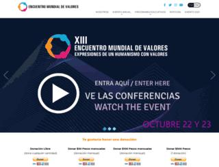 encuentromundialdevalores.org screenshot