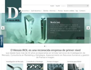 encuestas.dalessio.com.ar screenshot