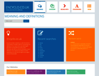 encyclo.co.uk screenshot