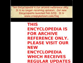 encyclopedia.creepyhollows.com screenshot
