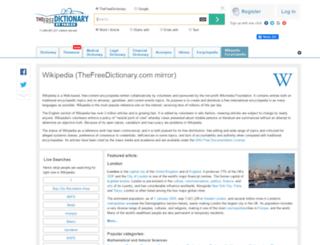 encyclopedia.tfd.com screenshot