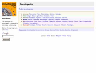 encyclopedie-es.snyke.com screenshot