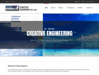 endee-engineers.com screenshot