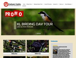 endemicguides.com screenshot