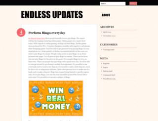 endlessupdates.wordpress.com screenshot