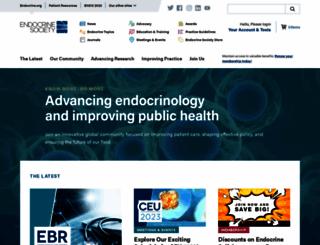 endo-society.org screenshot