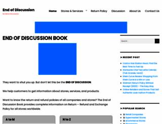 endofdiscussionbook.com screenshot