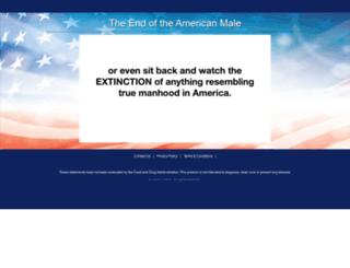 endoftheamericanmale.com screenshot