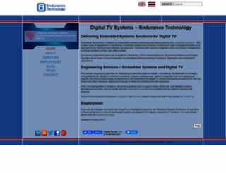 endurance-thailand.com screenshot