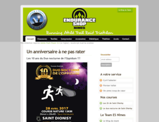 enduranceshopnimes.free.fr screenshot