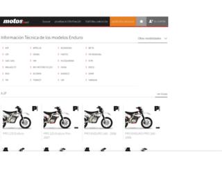 enduro.motos.net screenshot