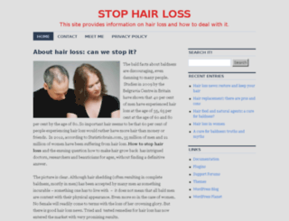 endyourhairloss.com screenshot