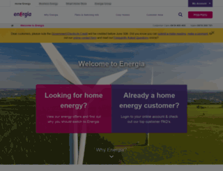 energia.ie screenshot