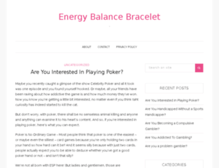 energy-balance-bracelet.com screenshot