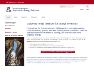 energy.arizona.edu screenshot