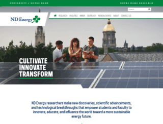 energy.nd.edu screenshot