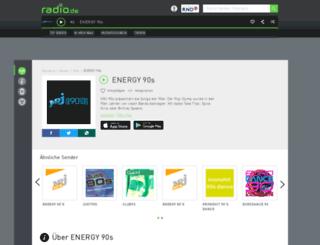 energy90s.radio.de screenshot