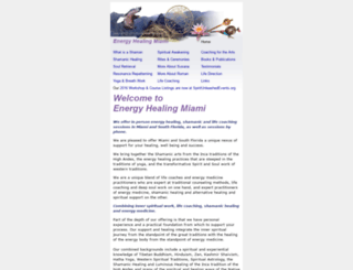 energyhealingmiami.com screenshot